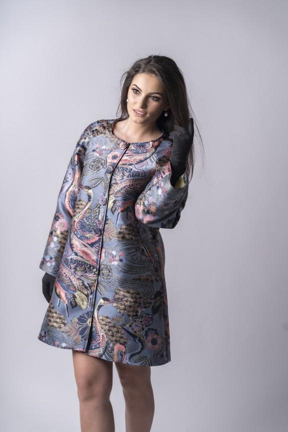 Amélie Brocade Coat