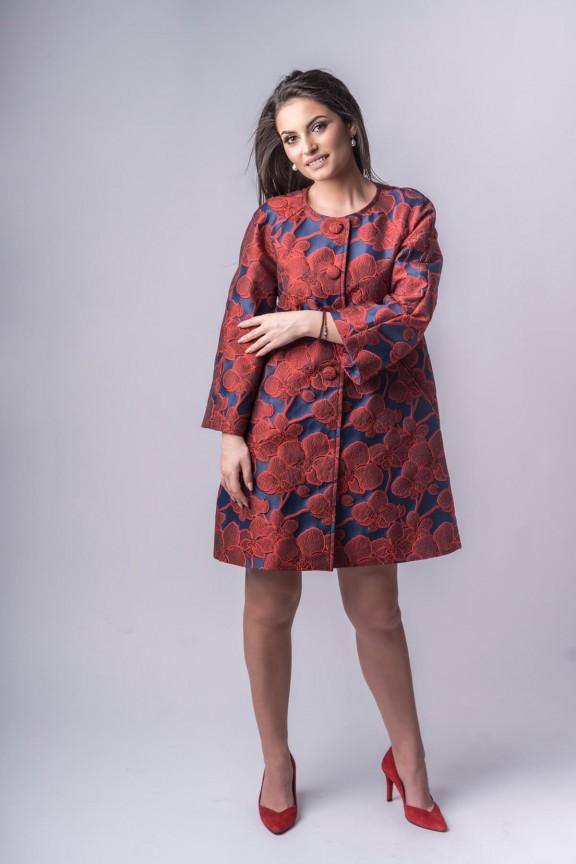 Coralie Brocade Coat