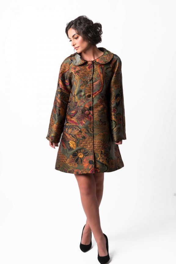 Amelie Brocade Coat